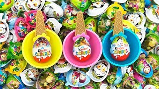NEW! Kinder Surprise Eggs Kinder Surprise In A Cups A Lot of Chocolate Toys For Kids