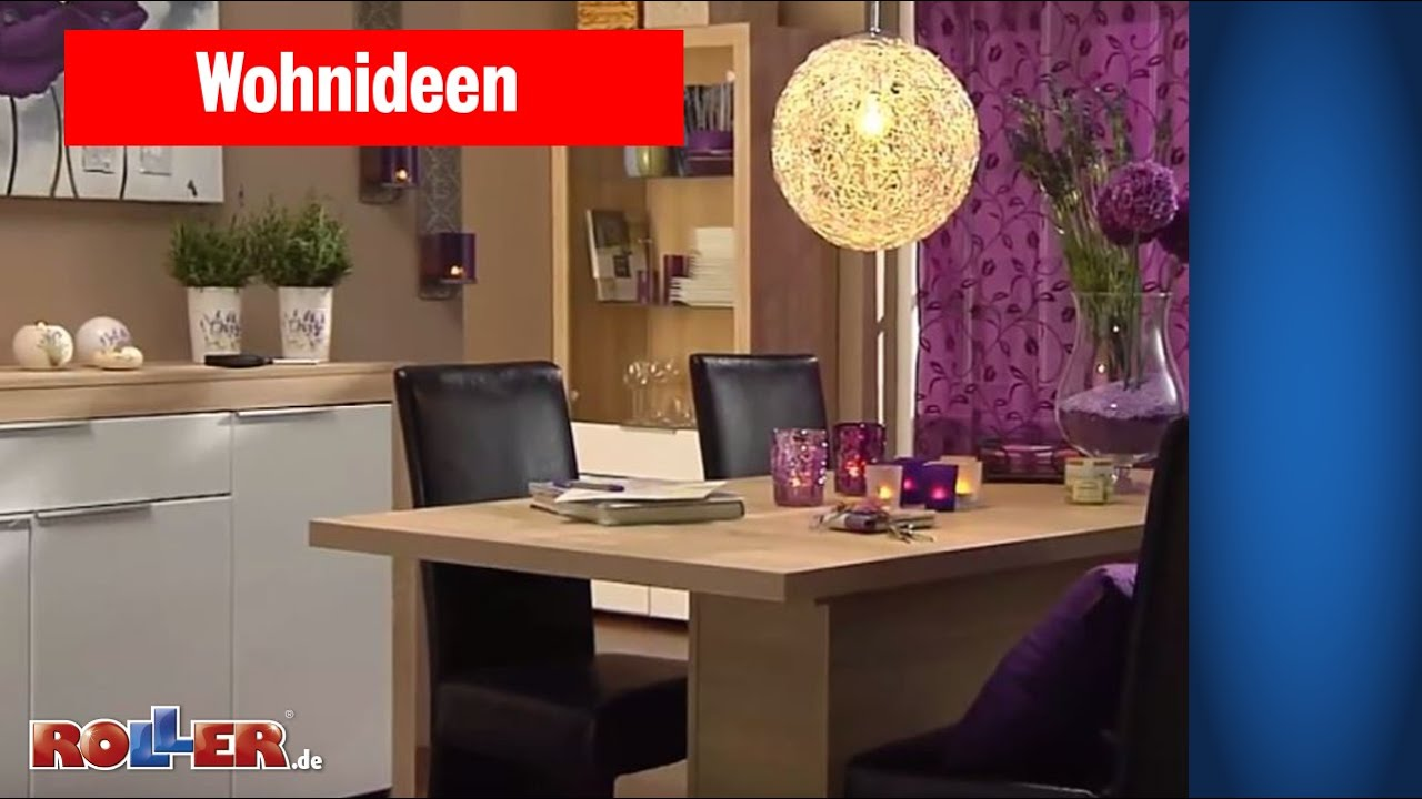 esszimmer mit esstisch im landhausstil roller wohnideen youtube. Black Bedroom Furniture Sets. Home Design Ideas