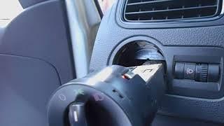 Как снять блок  переключателя света на VW-polo