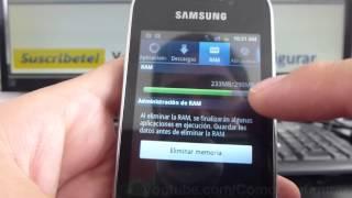 como ingresar administrador de aplicaciones samsung Galaxy Y S5360 español Full HD