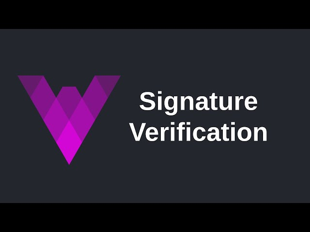 Signature Verification | Vyper (0.2)