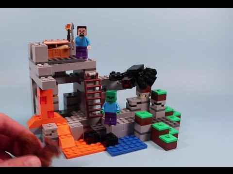Lego Minecraft The Cave Building Set Opening and Speed Build - YouTube
