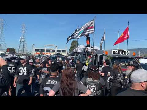 Raider Nation Van Blowing Whistle Cat-Calls Before Bengals Vs Raiders 2019