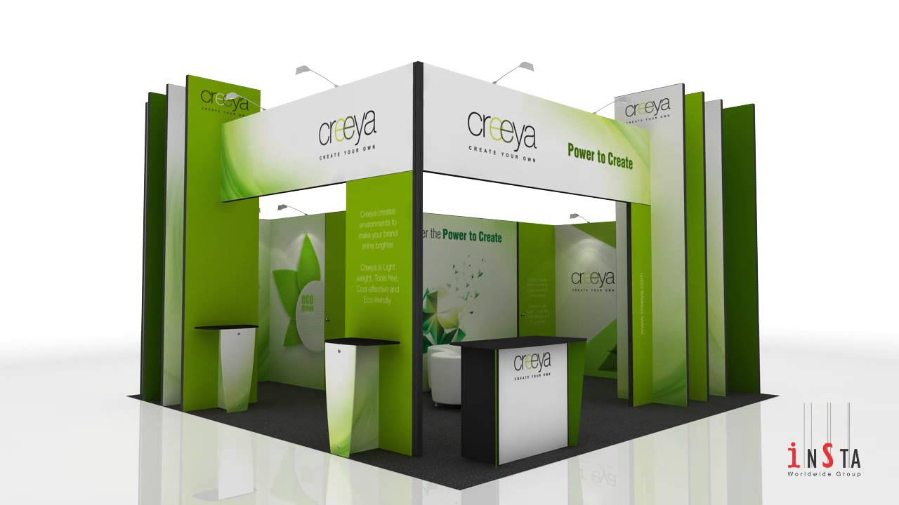 Simple Exhibition Stand Goals : In exhibition stand design ideas using creeya™ custom