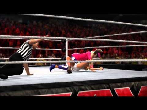 WWE 2K14 - Nicki Minaj Vs Miley Cyrus