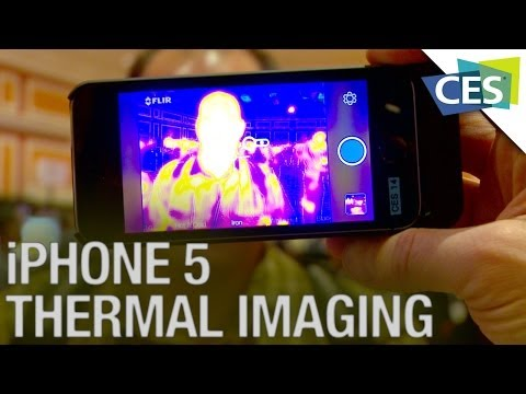 Turn Your iPhone into a Thermal Imaging Camera! - CES 2014