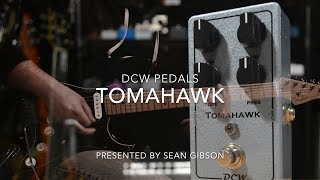 dcw pedals tomahawk distortion full demo with sean gibson of the noise reel