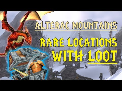 WoW Classic - Rare Mob Locations + UNIQUE LOOT - Alterac Mountains