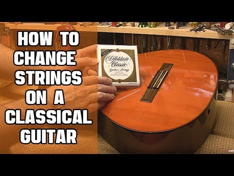 how to change strings on a classical guitar youtube. Black Bedroom Furniture Sets. Home Design Ideas