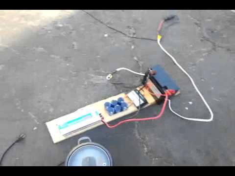 How to cook rice to 50 Watts Solar Panel with Super Capacitor
