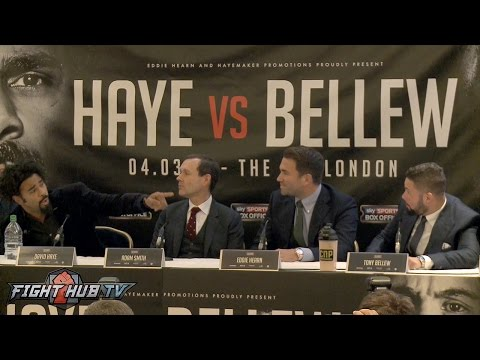 David Haye vs. Tony Bellew Heated Full Kickoff Press Conference video