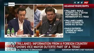Trillanes, hinamon si Paolo Duterte na ipakita ang kaniyang tattoo