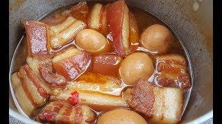 Cách nấu THỊT KHO TÀU ngon khó cưỡng không cần nước dừa