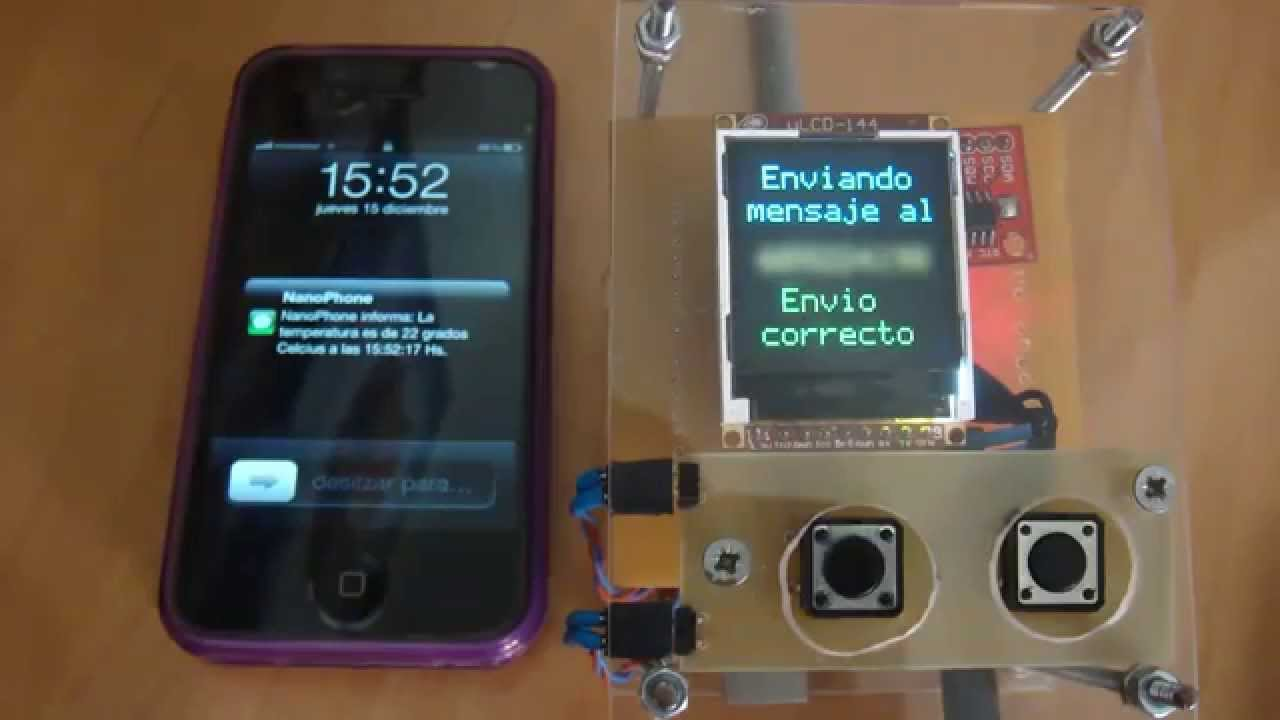 Arduino Project NanoPhone Sending SMS - YouTube