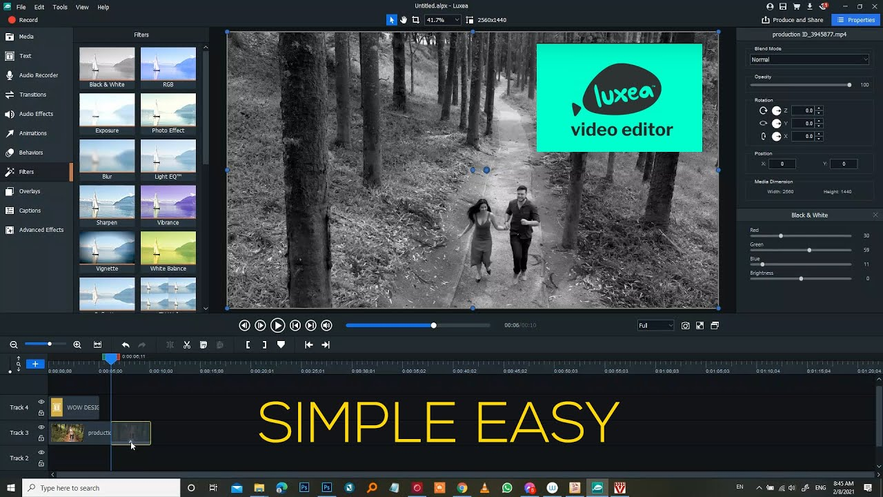 Download Luxea easy video editor for pc - Interface and features - Simple Super easy beginners to pro
