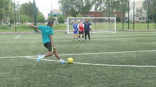 One of Sharky's most viewed videos: THE ULTIMATE FREE KICK CHALLENGE!!!