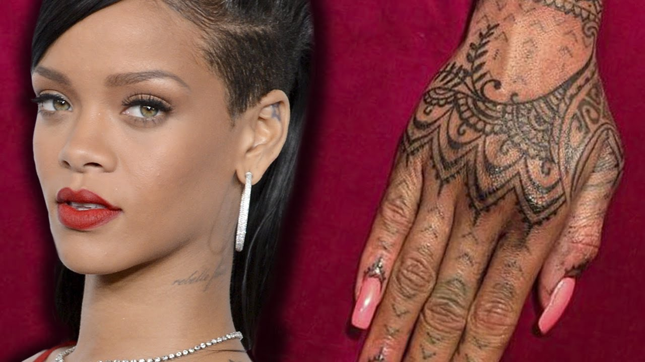 rihanna debuts new henna hand tattoo youtube. Black Bedroom Furniture Sets. Home Design Ideas