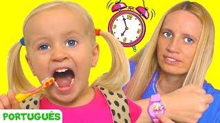 Se apresse para a escola - canção para crianças   Canções infantis   Katya e Dima