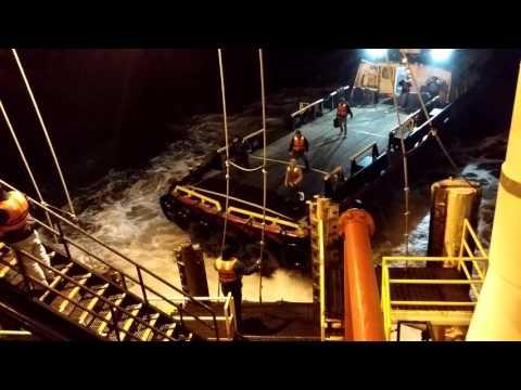 Oil platform crew change