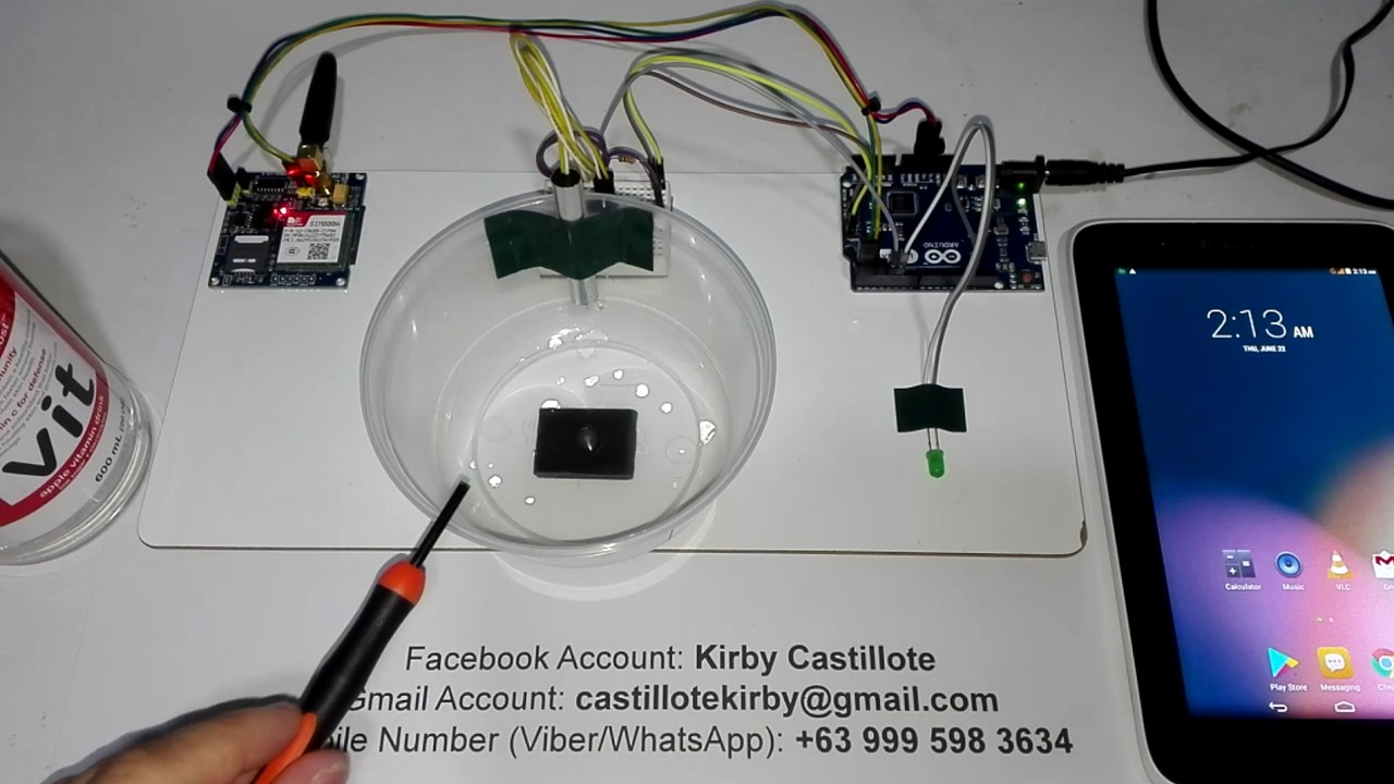 Improvised Water Or Flood Level Monitoring Using Arduino With Sms Circuit Diagram Indicator Notification