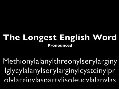 Longest English Word Pronounced