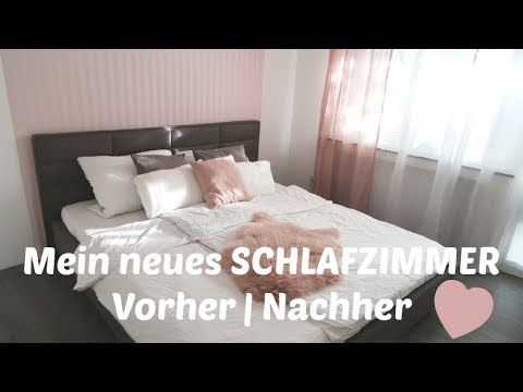 neues schlafzimmer vorher nachher renovieren tapeten runter neues bett youtube. Black Bedroom Furniture Sets. Home Design Ideas