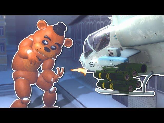 GIANT FREDDY BATTLE IN CITY! - Garry's Mod Gameplay - Gmod FNAF Battle