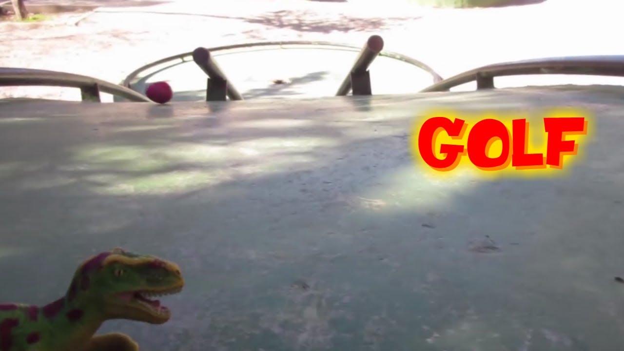 Dino juega a Golf | Vídeos de dinosaurios para niños en español