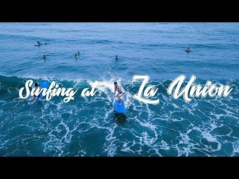 Surfing at San Juan, La Union - Travel Vlog 2