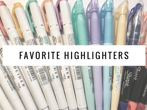 Battle of the Highlighters (Mildliners, Muji, etc) | Stationery Favorites 2016