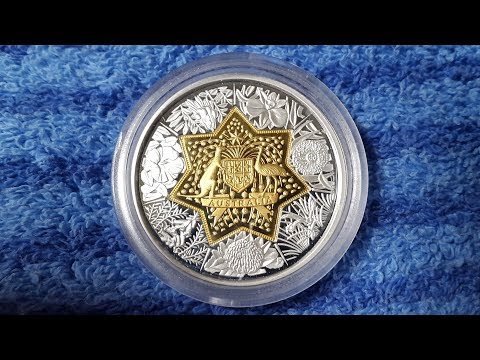 Floral Emblems Gold Silver Bi-Metal Coin Australia 2001