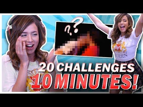 20 CHALLENGES IN 10 MINS?! FORTNITE DANCES, DON'T CRINGE, BLIND TASTING!