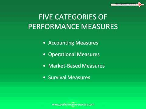 Five Categories Of Performance Measures:  How To Measure Performance