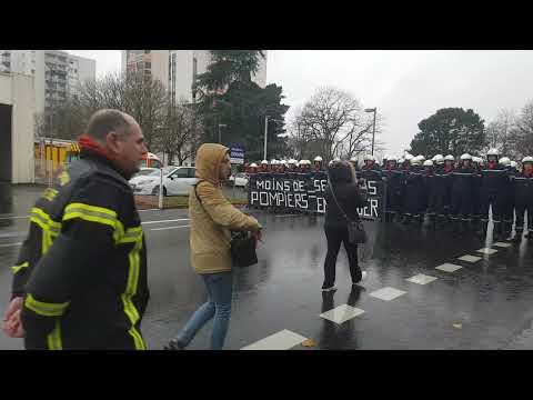 Manifestation Sainte-Barbe Pompiers Cholet