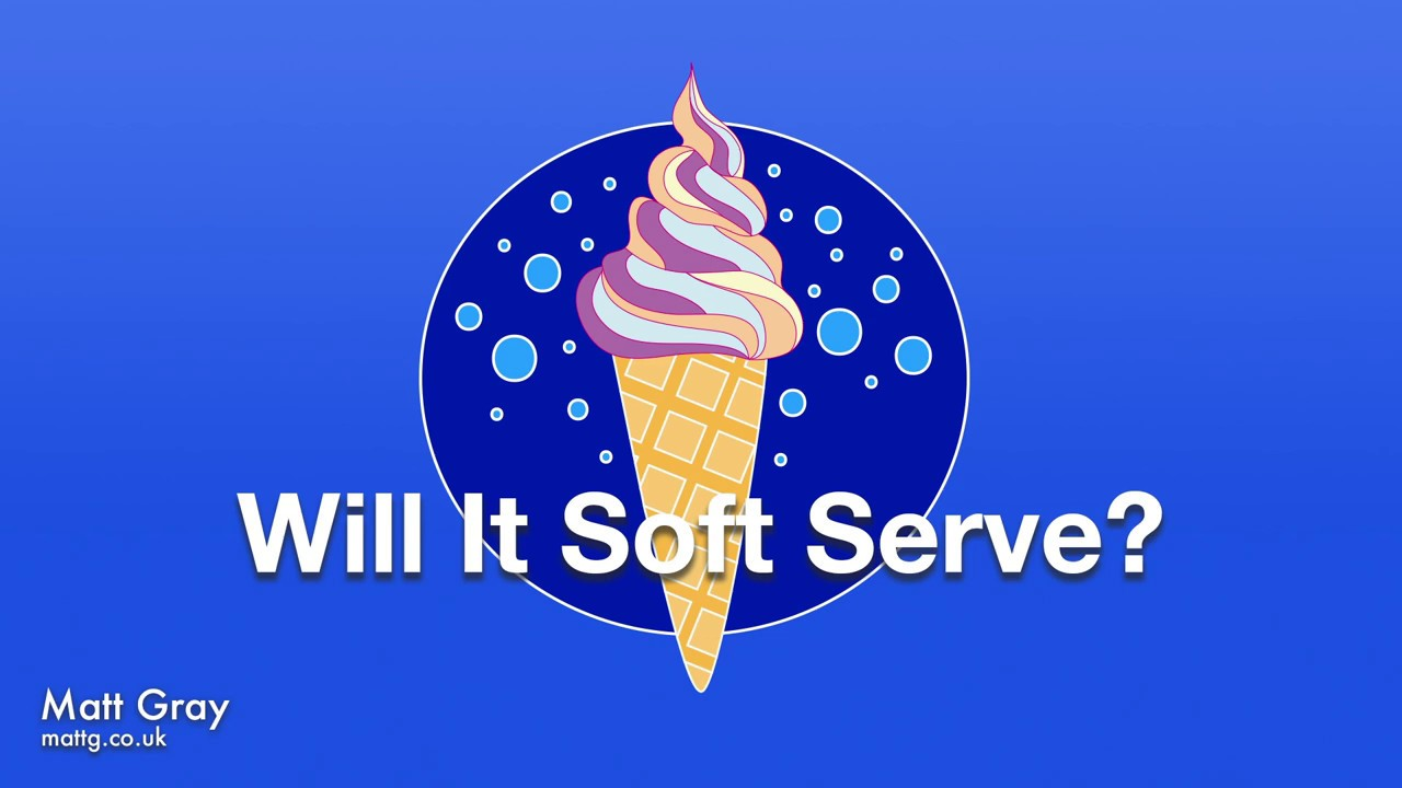 Youtube Thumbnail Image: Will It Soft Serve?