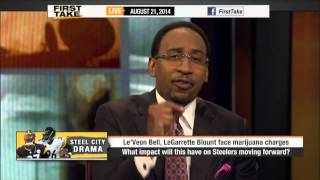 First Take - Le'Veon Bell, LeGarrette Blount Arrested