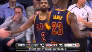 Cleveland Cavaliers vs Detroit Pistons. Game #3. Playoffs NBA 2016