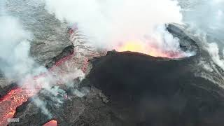 Video Aerial footage shows lava erupting from fissure 8 download MP3, 3GP, MP4, WEBM, AVI, FLV Juli 2018