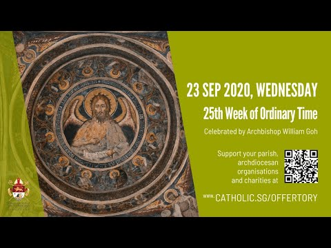 Catholic Weekday Mass Today Online - Wednesday, 25th Week of Ordinary Time