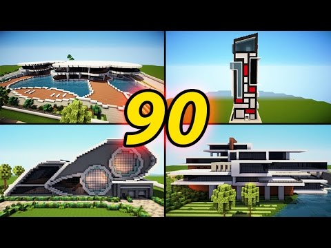 90 Amazing Minecraft Modern House Builds / + Download + Tutorials