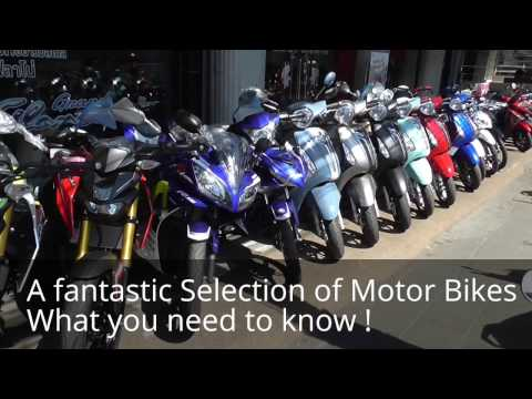 Living in Thailand,  Buying A Motorcycle 125 cc to 400cc.  Models.