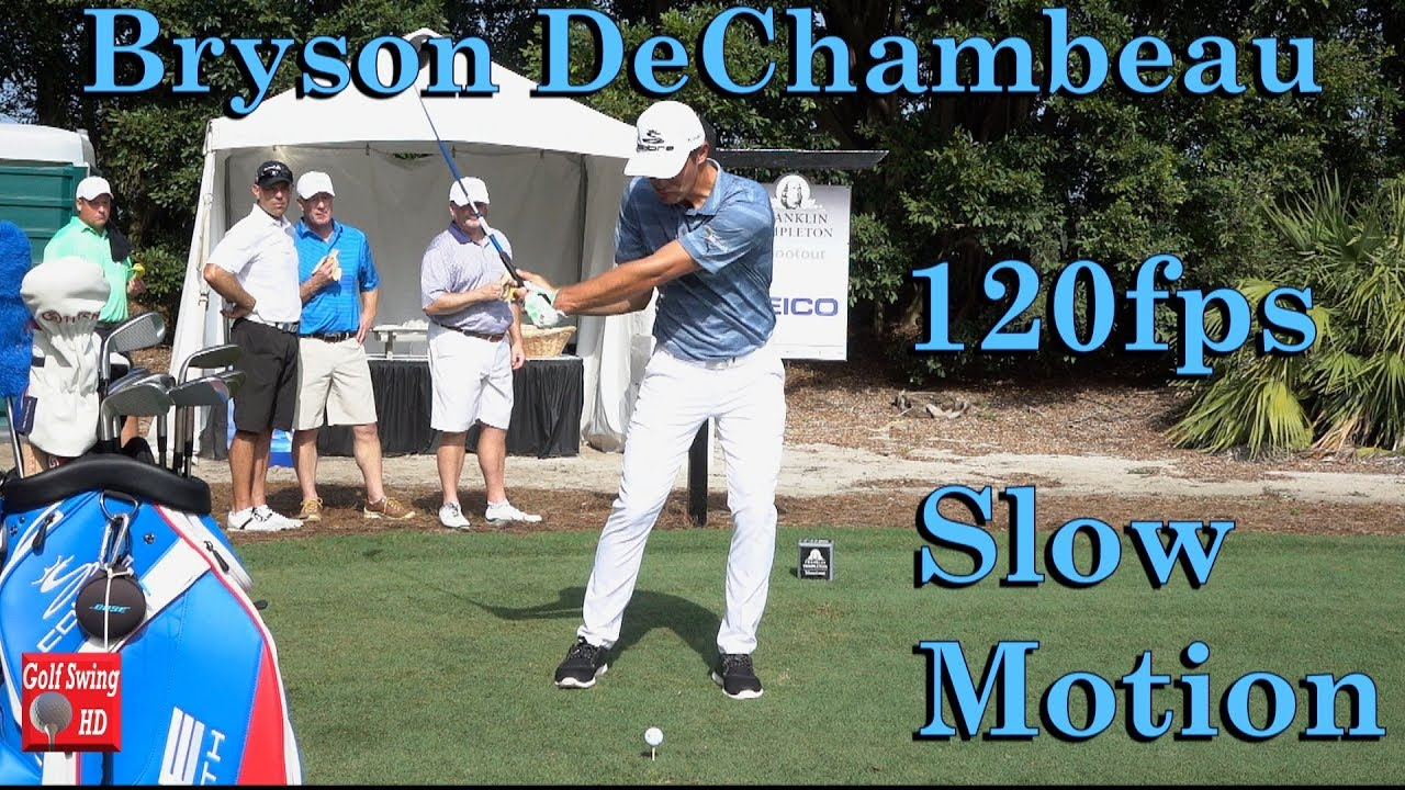 BRYSON DECHAMBEAU 120fps SLOW MOTION FACE ON ...