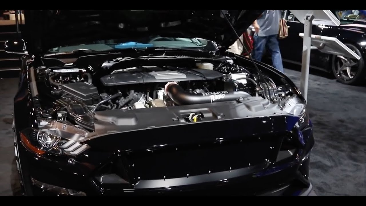 Sema 2017 worlds first twin turbo charged 2018 mustang