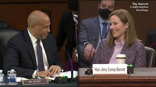WATCH: Sen. Cory Booker questions Supreme Court nominee Amy Coney Barrett