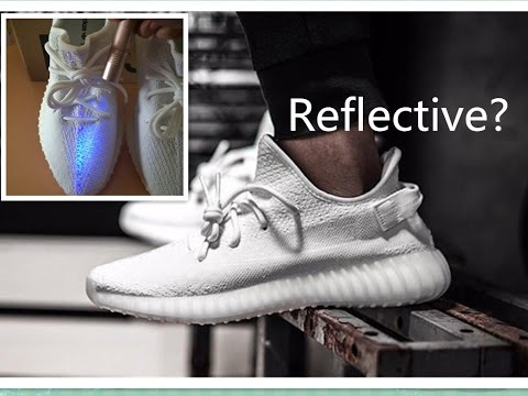 "5d14e740 ADIDAS YEEZY BOOST 350 V2 ""CreamWHITE"" BEST REPLICA UNBOXING / UV TEST"