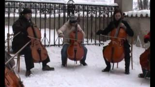 Greensleeves by Cello ensemble from Český Krumlov