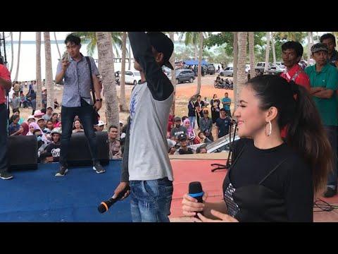 Memori berkasih baby shima ajak penonton nyanyi bersama.. live konser di Belitung Indonesia