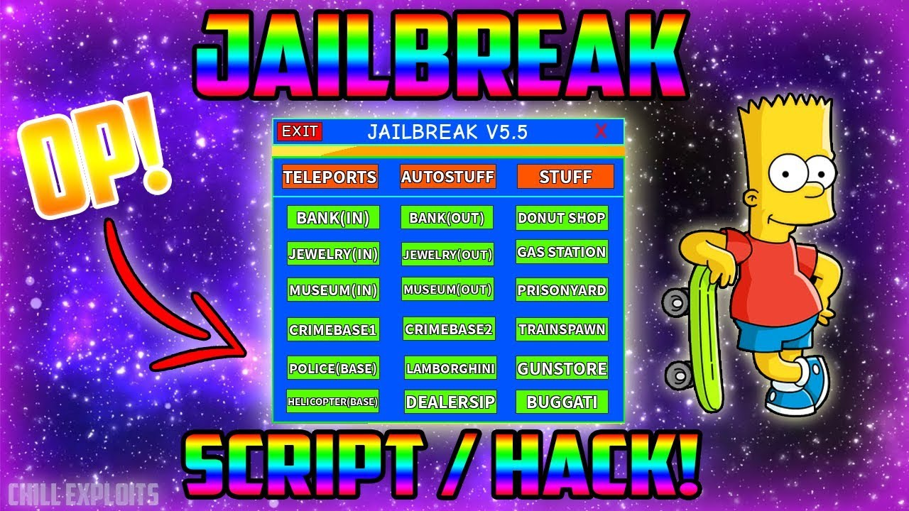 New Roblox Script Hack Jailbreak Gui V5 5 Speed Teleports