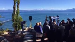 Bride Procession -Tahoe Wedding - Somewhere Over the Rainbow