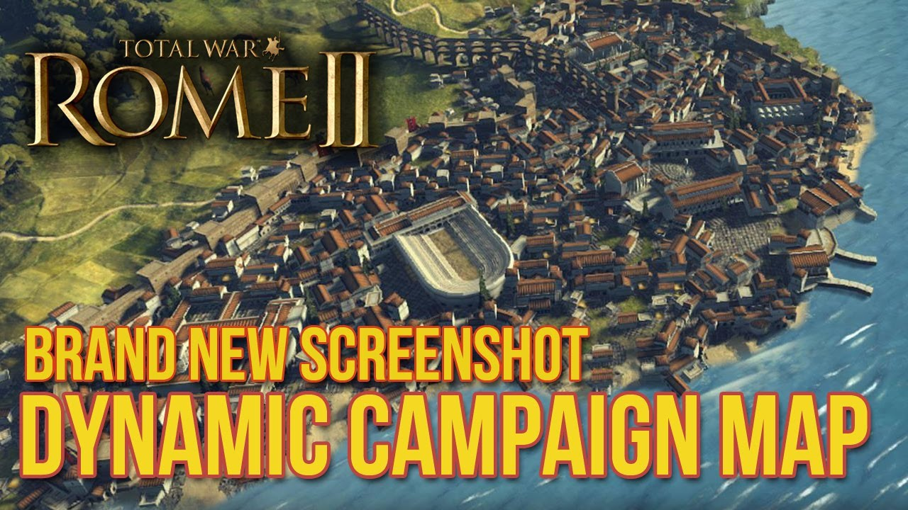 Total War Rome II Dynamic Campaign Map City Growth And - Rome total war map city locations